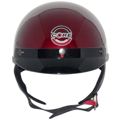Core Cruiser Shorty Half Helmet (Wine, Large)