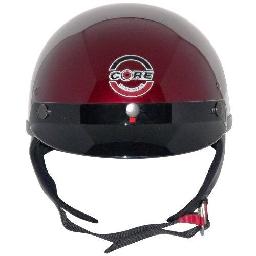 Core Cruiser Shorty Half Helmet (Wine, Medium) by Core Helmets (Image #1)