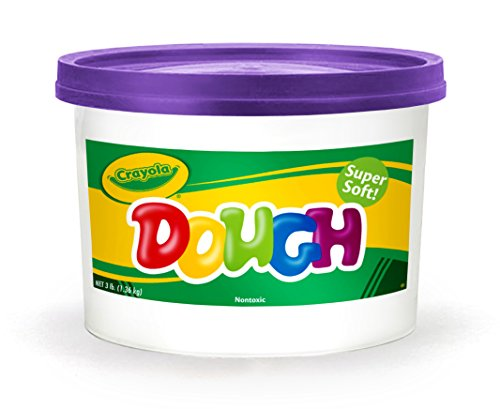 Modeling Super Dough - Crayola Dough, Purple, 3 Pound Resealable Bucket Super Soft Compound Is Ideal For Little Hands, Crumble Free Modeling Dough, Create Shapes and Designs, Great for Kids & Toddlers 3 & Up