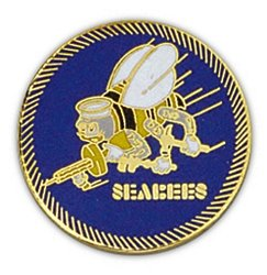 Seabees Large Pin