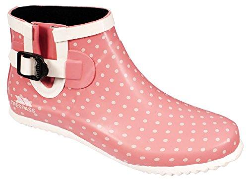 Trespass - Botas de agua de goma mujer Rosa (Pink (Rosehip & Mushroom Polka Dot))