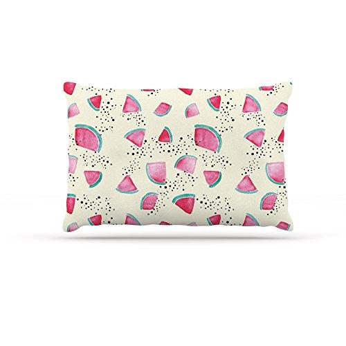 Kess InHouse Danii Pollehn ''Watermelon'' Food Fleece Dog Bed, 30 by 40'' by Kess InHouse