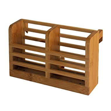 Totally Bamboo Dish Rack Utensil Holder, Beautiful and Durable Bamboo