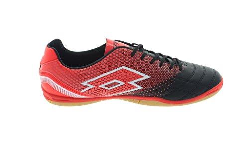 Lotto , Chaussures pour homme spécial foot en salle noir/rouge