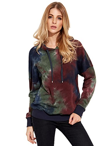 Verdusa Women's Classic Cotton Long Sleeve Printed Pullover Hoodies Sweatshirt Multicolor M