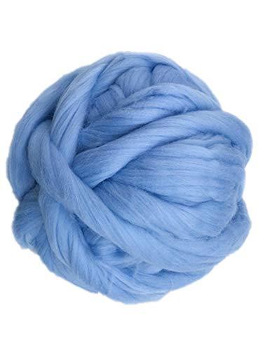 HomeModa Studio Giant Yarn Chunky Knit Yarn Wool Yarn Extreme Arm Knitting Colors 1 kg(2.2 lbs) Chunky Wool (Sky Blue) price tips cheap