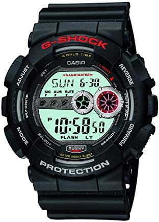 Casio Men s XL Series G-Shock Quartz 200M WR Shock Resistant Resin Color Black Model GD100-1A