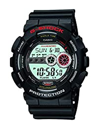 Casio G Shock Men's GD-100-1ACR G-Shock Digital Display Quartz Black Watch