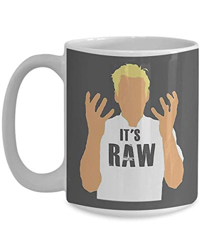 Lneng Christmas Gordon Ramsay -It's RAW Coffee Mug, Funny, Cup, Tea, Gift for Christmas, Father's Day, Xmas, Dad, Anniversary, Mother's Day, Papa, Heart, -