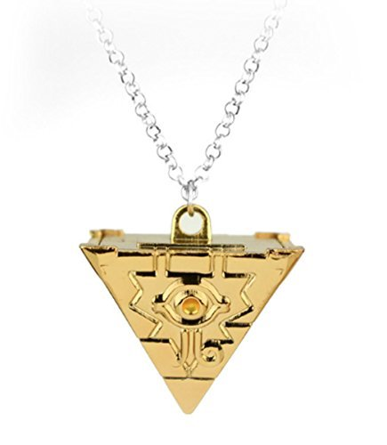 Yugioh Toy Yu Gi Oh - Pyramid Necklace - Anime - Yu Gi Oh - Gold Tone - Cosplay - GldPY