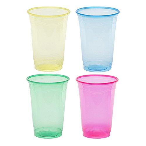 (Colors 16oz Plastic Cups, Multicolor, 60 count )
