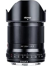 VILTROX AF 23 mm f1.4 autofocus Prime lens APS-C cameralens met grote diafragma compatibel met Nikon Z Mount camera's (ogen AF, instelbaar diafragma f1.4-f16), zwart