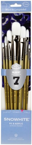 Snowhite Royal and Langnickel Brush Set, Filbert, 7-Piece