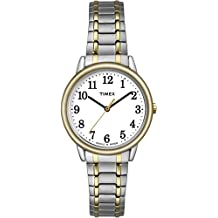 Timex Women's TW2P78700GP Dress White Dial with Stainless Steel Expansion Band Watch