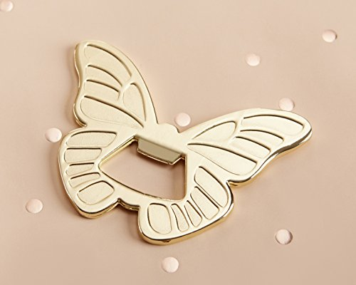 Kate Aspen, Gold Butterfly Bottle Opener, perfect forParty Favors & Party Decors, Garden Parties (Bottle Opener Butterfly Gold)