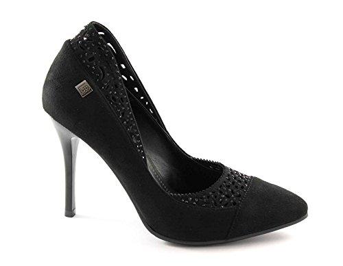 1415 Decollet Noir Nero Femme Chaussures Talon Élégant Biagiotti Laura qUwCpq