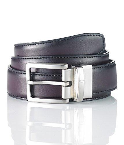 Club Room Mens Leather Reversible Dress Belt Black 40 - Room Club Belt Reversible