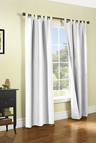 gic Tab Top Insulated Energy Efficient Drapery Pair, White 80