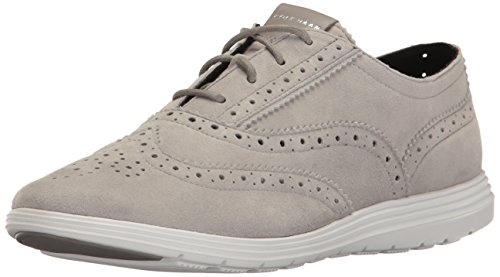 Cole Haan Women's Grand Tour Oxford, Ironstone/Optic White, 8 B US