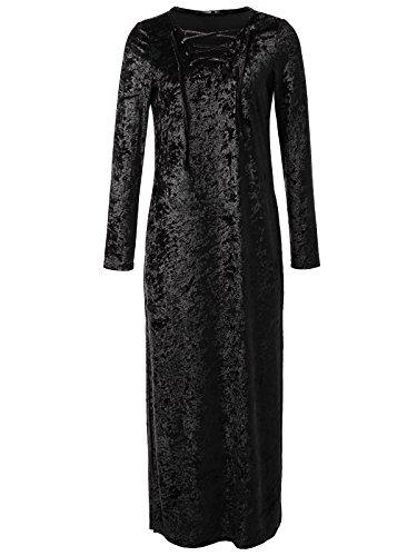 long black leather dress - 8