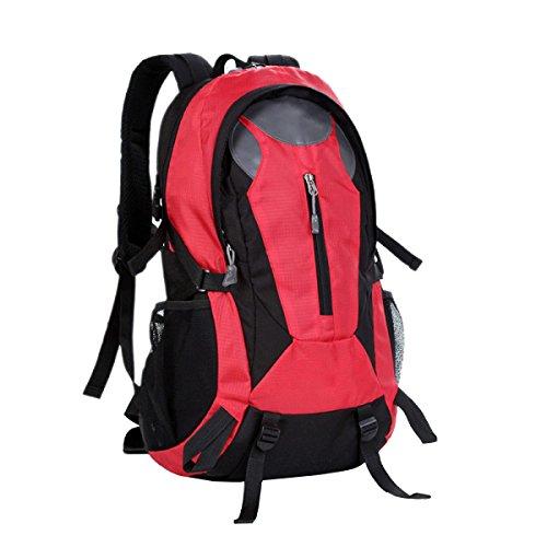 TUOZA Alpinismo Al Aire Libre De Los Hombres Mochila Viajes Combinados Y Los Deportes De Las Mujeres Mochila,Black-OneSize Red