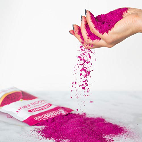 Pitaya Plus Freeze Dried Red Dragon Fruit Powder Organic. 8 Ounces of 100% Dragon Fruit for the Brightest Pink Rceipes. USDA and Oregon Tilth Organic, Non-GMO, Earth Kosher, Vegan Verified, B-Corp. by Pitaya Plus (Image #3)