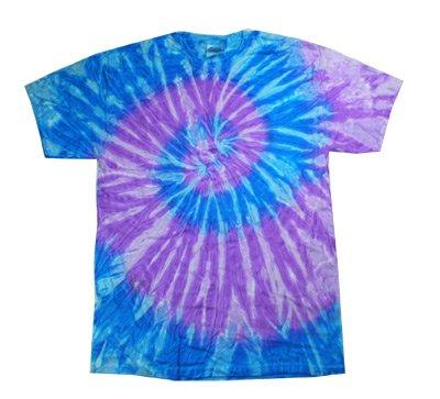 DER BLUE Retro Vintage Groovy Youth Kids Tee Shirt T-Shirt, Kids Small 6-8 (Boys Blue Tie Dye)