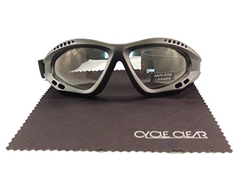 Cycle Clear Clear Tinted Motorcycle Goggles - Wind Proof Motorcycle Goggles Will Keep You Tear Free - Model - Custom Motorcycle Goggles