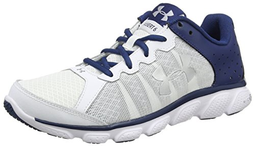 Under Armour Men's Micro G Assert 6 Running Shoe, White (101)/Blackout Navy, 10.5