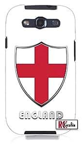 Premium England Flag Badge Direct UV Printed Unique Quality Soft Rubber TPU Case for Samsung Galaxy S4 I9500 - White Case