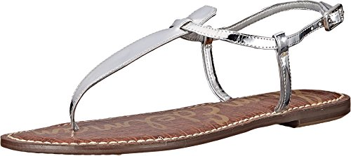 Edelman Saddle Womens Liquid Sam Gigi Metallic Argent Silver Clair soft dq4ntBwn