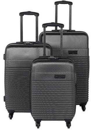Jean Louis Scherrer Luggage Set, Black (black) - BILL4 GRIS FONCE