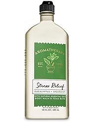 Bath & Body Works Aromatherapy Stress Relief - Eucalyptus + Spearmint Body Wash & Foam Bath, 10 Fl Oz