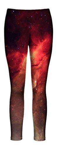 技術胴体まろやかなBeloved Nebula Leggings – Full Length All Over Printファッションレギンス