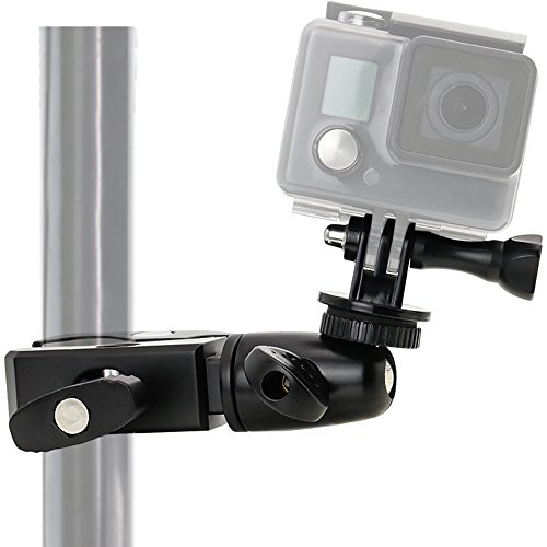 EXSHOW Metal Handlebar Motorcycle Mount with 1/4 Adapter for Gopro Hero and Cameras