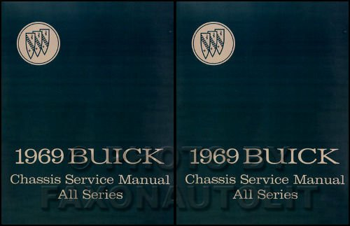 STEP-BY-STEP 1969 BUICK 2 VOL. SET OF REPAIR SHOP & SERVICE MANUAL INCLUDES Gran Sport 350 & 400, LeSabre, Riviera, Skylark, Special, Custom, Sportwagon, Wildcat ()