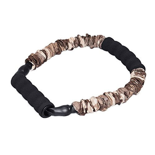 Ranbo Hand Extensor Exerciser,Finger strength Resistance Bands / arm strength training for archery pull bow workout equipment Camouflage Color (55 LB)