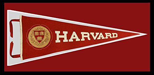 Seal Pennant - Harvard University Vintage 1960s Pennant. Leather Seal
