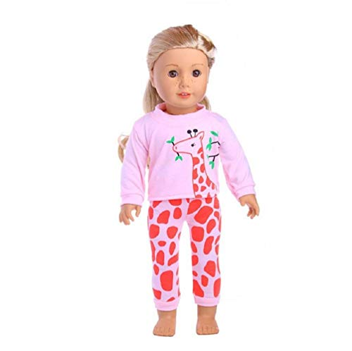 RALMALL Doll Pajamas PJS Clothes Beautiful Dolls Clothes for 18 Inch American Girl Our Generation Journey Girl Doll Children Gift