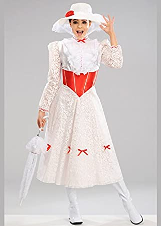 Disfraz de Mary Poppins para Mujer Blanca Jolly Holiday Medium (UK ...