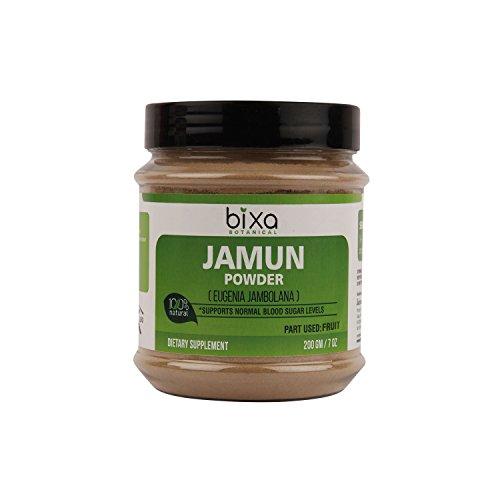 Jamun Powder (Black Plum) (Eugenia jambolana) 200g (7 Oz)   Herbal Supplement for Normal Blood sugar Level, supports proper digestion For Sale