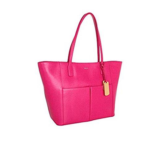 LAUREN Ralph Lauren Newbury Pocket Tote (Pink - Tote Ralph Lauren Pink