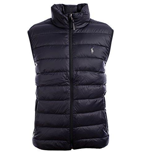 Polo Ralph Lauren Mens Full Zip Puffer Vest (X-Large, Polo Black)