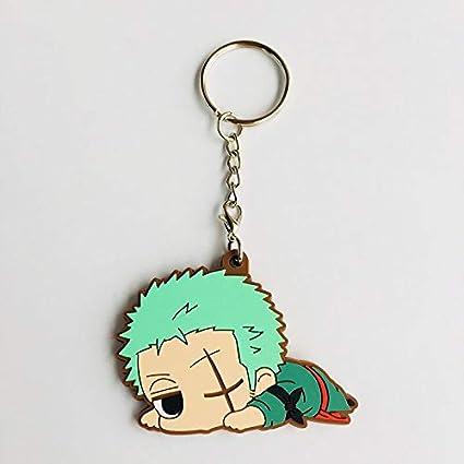 Amazon.com: Anime One Piece Keychain Luffy Zoro Sanji Ace ...