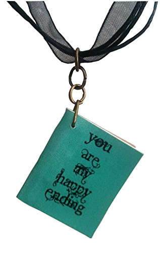 You Are My Happy Ending Book Pendant on a Black Ribbon Choker (Homemade Ariel Costume)