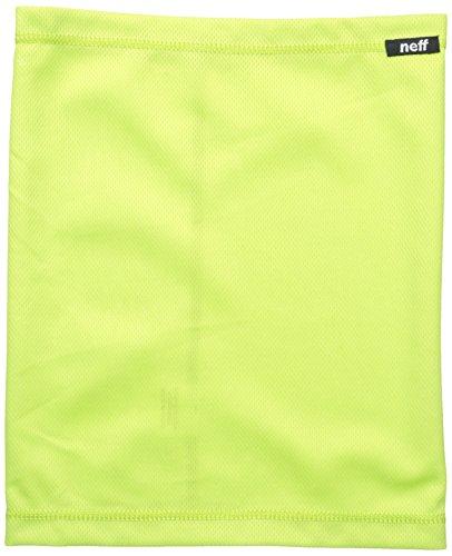 neff Men's Basic Stretchy Neck Thing Gaiter, Lime, One Size
