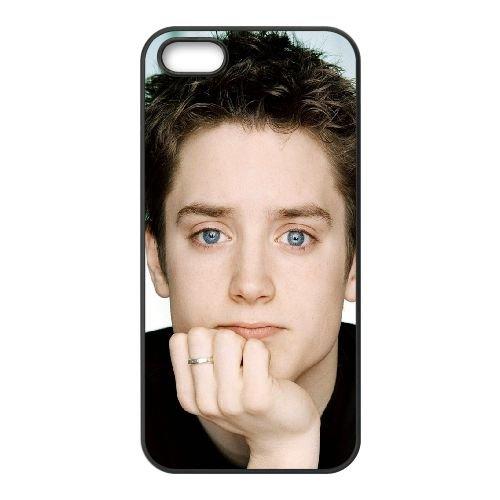 Elijah Wood Actor Blue Eyes Ring Hand coque iPhone 4 4S cellulaire cas coque de téléphone cas téléphone cellulaire noir couvercle EEEXLKNBC24813