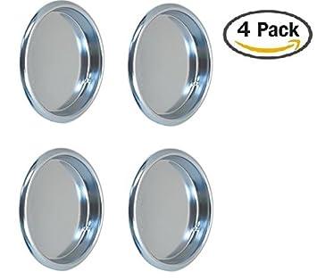 Nuk3y Easy Snap in Closet Door Finger Pull 218 4pack Chrome