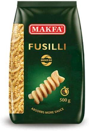 マクファ ブロンズダイス フジッリ 500g ショートパスタ ハラル認証 コーシャー認証 Makfa Bronze die Fusilli pasta 500 gr Halal & Kosher Non-GMO
