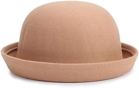 XJIUER Sombrero Sombrero Fedora para niñas Gorra de cúpula ...